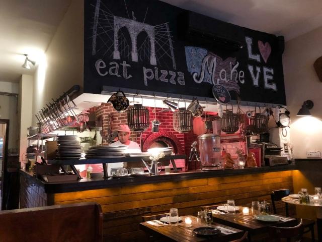 Luzzo's in Brooklyn -  thin-crust pizza